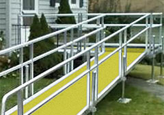 aluminium ramp safety yellow